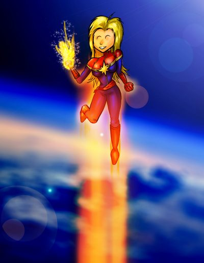 Happy-Go-Lucky Captain Marvel
